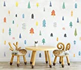 Colorful Woodland Trees Wall Decal Forest...