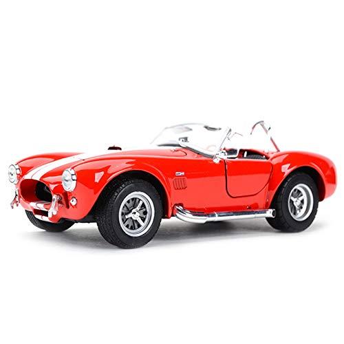 NMBD 1:24 para 1965 Shelby Cobra 427 Coche Clásico Estático Vehículos De Fundición Modelo Coleccionable Juguetes (Color : Red, Size : Wite Box)
