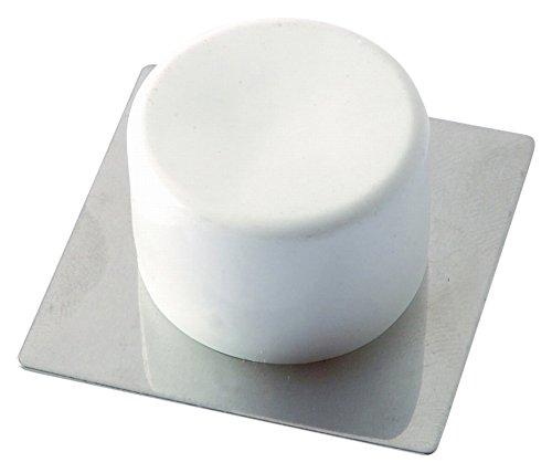 BRINOX Tope Puerta pequeño Adhesivo, Blanco, 2x4.1x4.1 cm