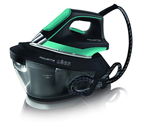Rowenta - Centro de Planchado VR8221 Powerstam 6 Bar, potencia 2200W, golpe vapor 300g/min, suela MicroSteam 400 láser,...