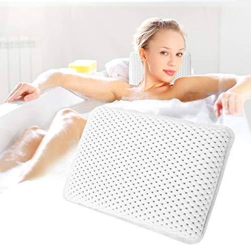 키리나 욕실 필로우 목 등 컴포트 스파 헤드 휴식 쿠션은 모든 욕조 자쿠지 핫 터브와 홈 스파 11 7.8 2.4인치