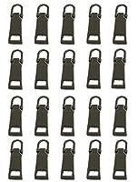 卓上棉品 ファスナー 引手 ジッパーヘッド 20個セット 3# 5# 金属 修理 交換 (?色,5#)