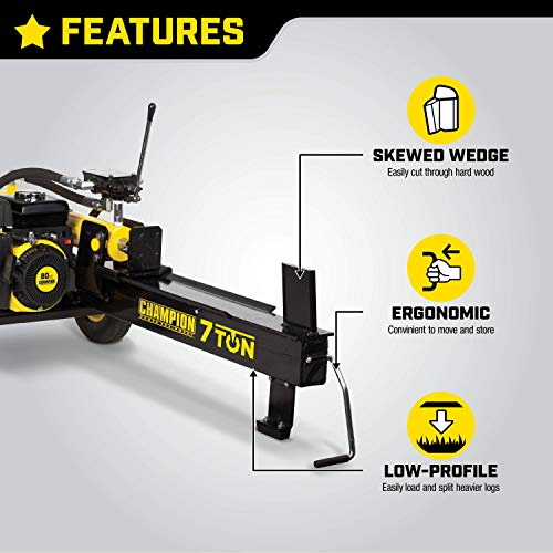 Champion 7-Ton Compact Horizontal Gas Log Splitter, Auto Return