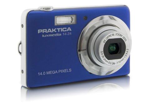 Praktica luxmedia 14-Z4 Digitalkamera (14 Megapixels, 4-Fach Opt, Zoom, 6,9 cm (2,7 Zoll) Display) Nachtblau