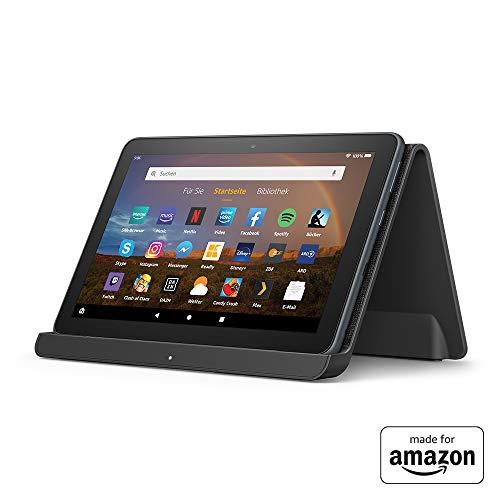 """Fire HD 8 Plus-Tablet, HD-Display, 64 GB, Mit Werbung, unser bestes 8-Zoll-Tablet für Unterhaltung unterwegs + Kabelloses Ladedock von Angreat, """"Made for Amazon"""""""