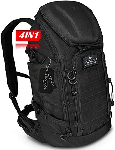 TOPEAGLE® Tactical Business Backpack – EIN Rucksack, UNBEGRENZTE Möglichkeiten [40L] 18 Zoll Laptopfach | für Uni, Arbeit, Sport, Motorrad und Freizeit - JETZT erleben!