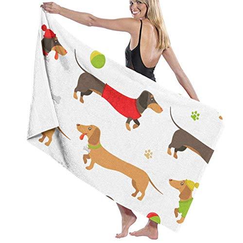 LREFON Toallas Teckel marrón y Jengibre para la Ducha,Toallas de baño, Fitness, Deportes al Aire Libre