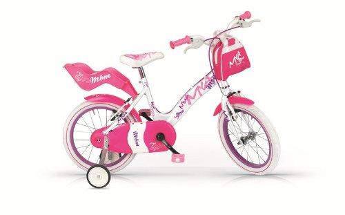 BMX Mya MBM Mädchen Fahrrad, Rosa bianca, 12'