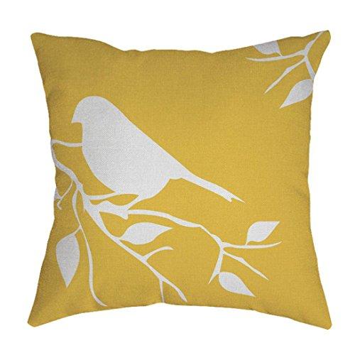 Mamum Housses de Coussin Vintage, Linen géométrique Throw Pillow Case Home Decor (Jaune)