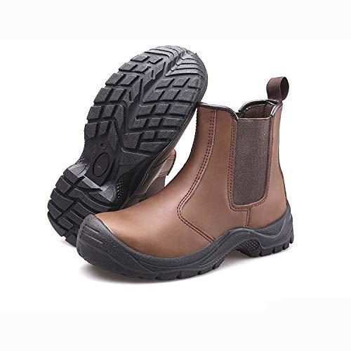 XLYAN stalen teen veiligheidsschoenen industriële bouw laarzen hoge top mannen herfst en winter anti-smash anti-punctie stalen teen pet warm en veilig lassen olie schoenen