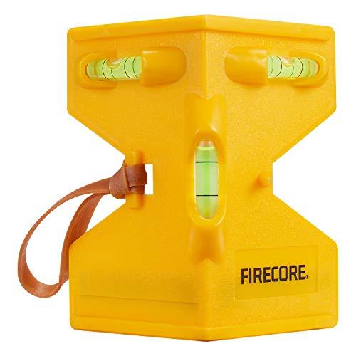 Firecore Magnetische Pfostenwaage 09031 Kunststoff-Wasserwaage mit Gummiband Gelb