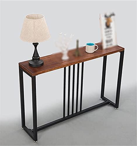 Mesa de consola retro, mesa de trabajo larga para casa, oficina, bar, sofá, mesa lateral, cafetería, restaurante, bistro (tamaño: 100 x 30 x 80 cm, color: A)