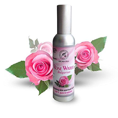 Rosenwasser 75ml - 100% Reine und Natürlich - Rose Damaszener - Bulgarien Hydrolat - Toner für Haut - Haare - Gesicht - zu Alle Hauttypen - Gut für Körperpflege - Wellness - Kosmetik - Ohne Alkohol