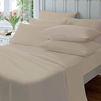 """Extra Deep 40CM/16"""" Fitted Sheets PolyCotton Percale Sheet"""