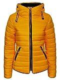 Love My Fashions - Abrigo - Túnica - para Mujer Amarillo Amarillo Mostaza 40
