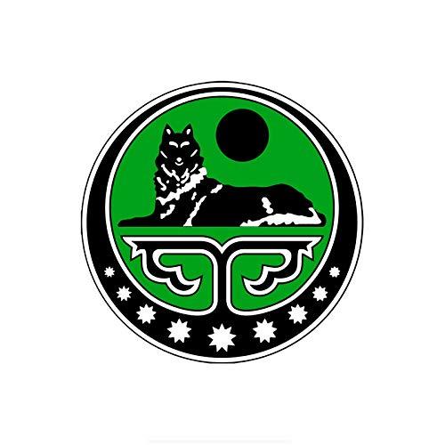 14X14CM Tschetschenien Tschetschenien Republik Ichkeria Tschetschenien Wolf Zweiter Kanal Autoaufkleber Aufkleber Auto Autoaufkleber