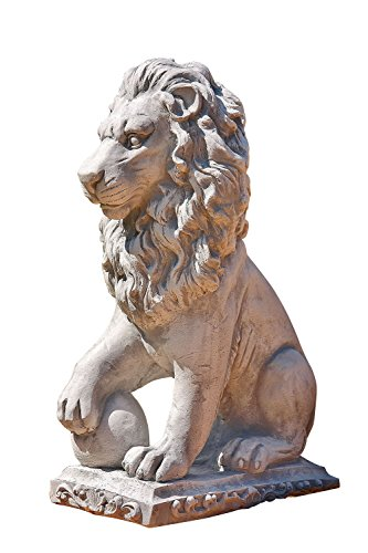 Löwe Links, Skulptur aus Steinguss