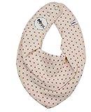 Pippi Mädchen Baby Dreieckstuch Halstuch Lätzchen in verschiedenen Designs (Punkte auf creme)