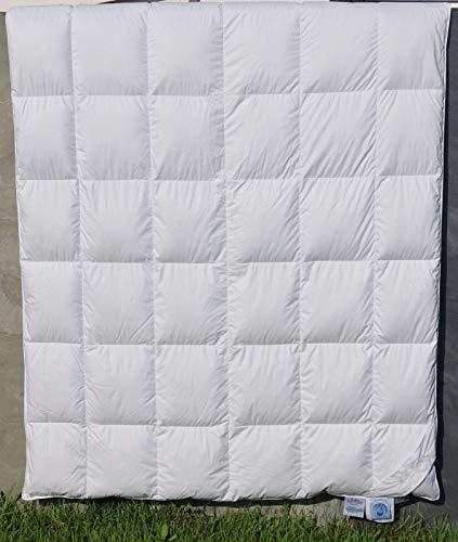 betten-traum-land Original Eiderdaune Ganzjahres Bettdecke Schlafgenuss der Spitzenklasse aus Deutscher Manufaktur (135x200)