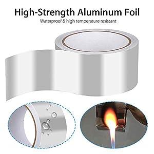HELLOGIRL Cinta adhesiva de papel de aluminio de 1 rollo Cinta de aislamiento de resistencia a altas temperaturas Cinta de reparación de blindaje conductivo 164 pies, 10/20/25/30 mm