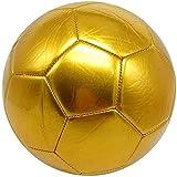 Plztou Fútbol Nº 5 Alto Grado de Cosido a máquina Pure Football Regalos de Oro de fútbol for niños (Color : Gold)