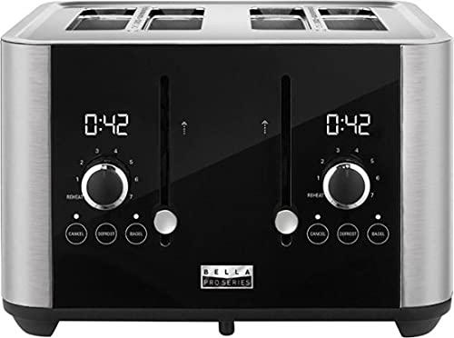 Bella Pro Series - 4-Slice Digital Touchscreen Toaster - Stainless Steel (Refurbished)
