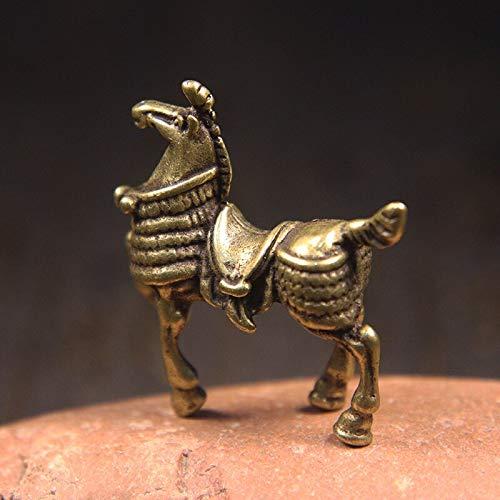 Vintage Kupfer Kriegspferd Figuren Nettes Ross Pferd Tier Haustier Schlüsselbund Schlüsselbund Schlüsselbund Klassische 3D-Tasche Kette Schlüssel Kreatives Geschenk