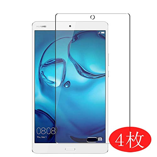 【4 Pack】 Synvy Screen Protector for Huawei MediaPad M3 8.4 BTV-W09 DL09 8.4' TPU Flexible HD Clear Case-Friendly Film Protective Protectors [Not Tempered Glass] New Version