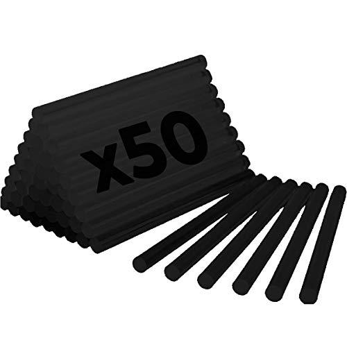 1 KG de COLA TERMOFUSIBLE NEGRA - 50 BARRAS de silicona para...