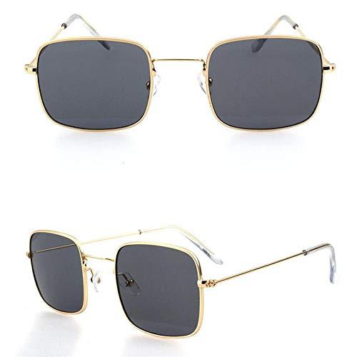Gafas De Sol Polarizadas Gafas De Sol De Metal Hombres Mujeres Gafas De Sol Cuadradas Retro Moda Océano Claro Amarillo Color Rosa Gafas De Sol Gafas De Montura Pequeña Gris