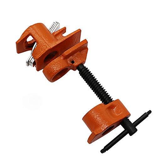 LONGWDS Alicates 3/4 Pesado abrazadera de pipa de la carpintería de madera encolado abrazadera de tubo abrazadera de tubo del accesorio del carpintero de la carpintería Herramientas de Orange Juegos d