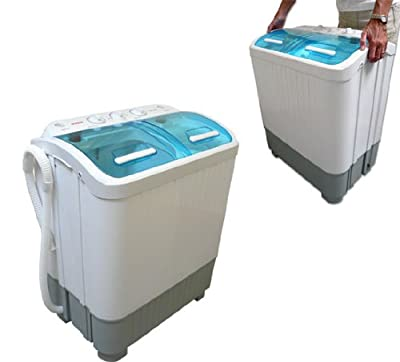 Good Ideas Portable Mini Twin Tub Washing Machine 3.5kg Cap with Spin Dryer 2kg Cap (889) Ideal for Small Loads, Flats, caravans