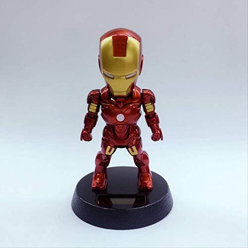 newolfend Marvel Toys Marvel Comics Vengadores Thanos Hulk Black Panther Iron Man Capitán América Figura De Acción Bobble Head Doll Juguete 9 * 11.3cm G