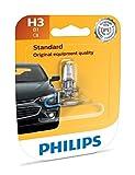 Philips H3 Standard Halogen Replacement Headlight Bulb, 1 Pack
