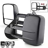 Acanii - Manual Non Heat Towing Telescoping Side Mirrors For Driver + Passenger 07-14 Suburban Silverado Avalanche Tahoe