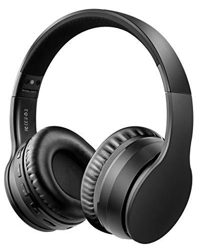 Ifecco Auricolare Bluetooth, Auricolare Bluetooth Over Ear Cuffie Auricolari Wirless, Auricolare Stereo Compatibile con Tutti Gli Smartphone/Tablet/Laptop Comuni (Nero)
