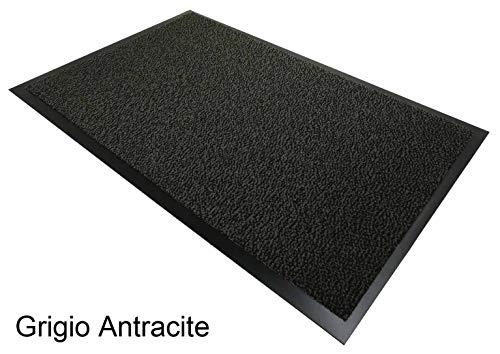CASA TESSILE Nevada Zerbino Tappeto asciugapassi - Grigio Antracite, 40x70 cm.