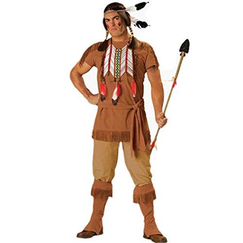 Finerun Disfraz indgena para hombre, disfraz de Halloween
