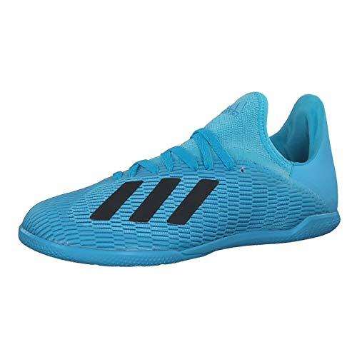 adidas Performance X 19.3 Indoor Fußballschuh Kinder hellblau/schwarz, 37 1/3 EU - 4.5 UK - 5 US