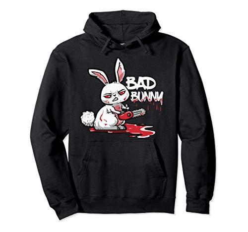 Bad Bunny Divertido Horror Conejo Halloween Disfraz Regalo Sudadera con Capucha