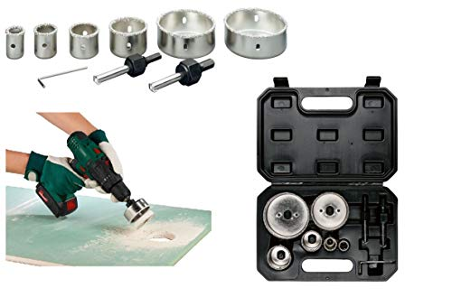 Parkside. Hole Saw Set Hole Saw Set 9 Pieces Can Drill Bit Tile Drill Bit Carbide Carbide Carbide Hole Saw Set