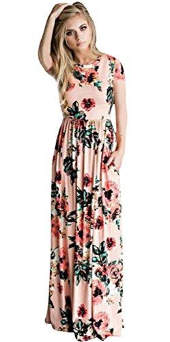 Vestido Estampado Floral Vintage Largo Mujer Fiesta Hippie Chic Vestidos Bohemios Largos Verano Invierno Tunica Playa Talla Grande Caftan Flores Kaftan Manga Corta y Larga Moda Retro Maxi Swing Dress