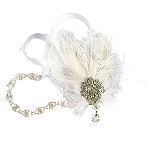 Lurrose - Tocado para novia, diseño vintage con cuentas de cristal con...