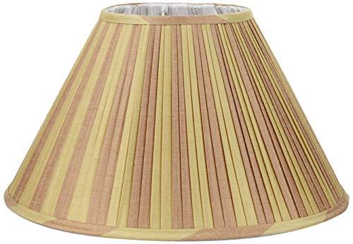 Better & Best lampenkap van zijde, smal, 40 cm, tweekleurig, taupe en groen gestreept