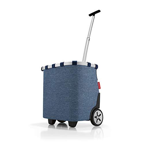 reisenthel carrycruiser OE4027 twist blue - Carro de la compra con 40 litros de capacidad, con clip para fijar al carro de la compra, 42 x 47,5 x 32 cm