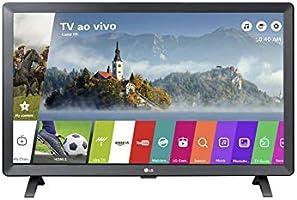 "Smart TV Monitor 24"" LED LG 24TL520S Wi-Fi WebOS 3.5 DTV Time Machine Ready, Preto"