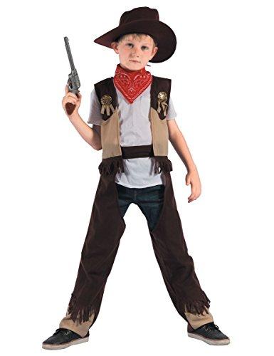 Generique - Disfraz de Vaquero Rodeo niño - XS 3-4 años (92-104 cm)
