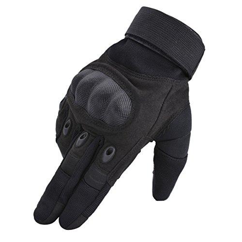 Coofit Taktische Handschuhe Winter Motorrad Handschuhe Herren Vollfinger Army Gloves Biking Skifahre Handschuhe (Schwarz, XL) - 3