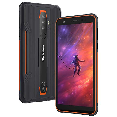 Moviles Resistente Outdoor 4G, Blackview BV6300 Android 10 Impermeable Smartphone, 3GB+32GB SD- 128GB, 5.7'' 11,6 mm Ultrafino, 13MP+8MP, IP68/IP69 Mvil Libre Antigolpes, Dual SIM/GPS/NFC/Face ID