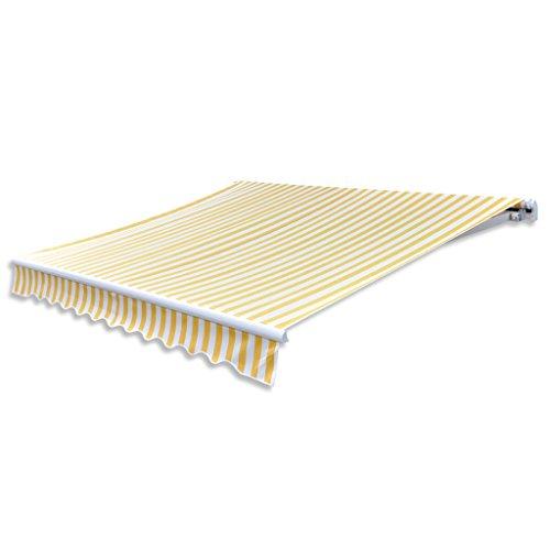 Anself Tende da Veranda Parasole Bianco & Giallo 3 x 2,5 m